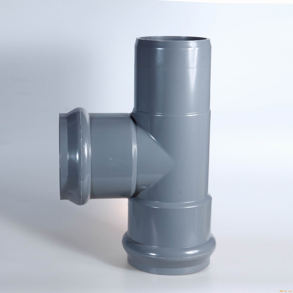 PVC-U pipe fittings with rubber ring joint