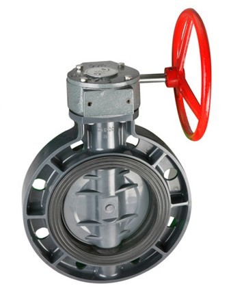 worm style butterfly valve