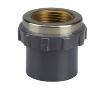 UPVC sch80 MALE COUPLING (COPPER THREAD)