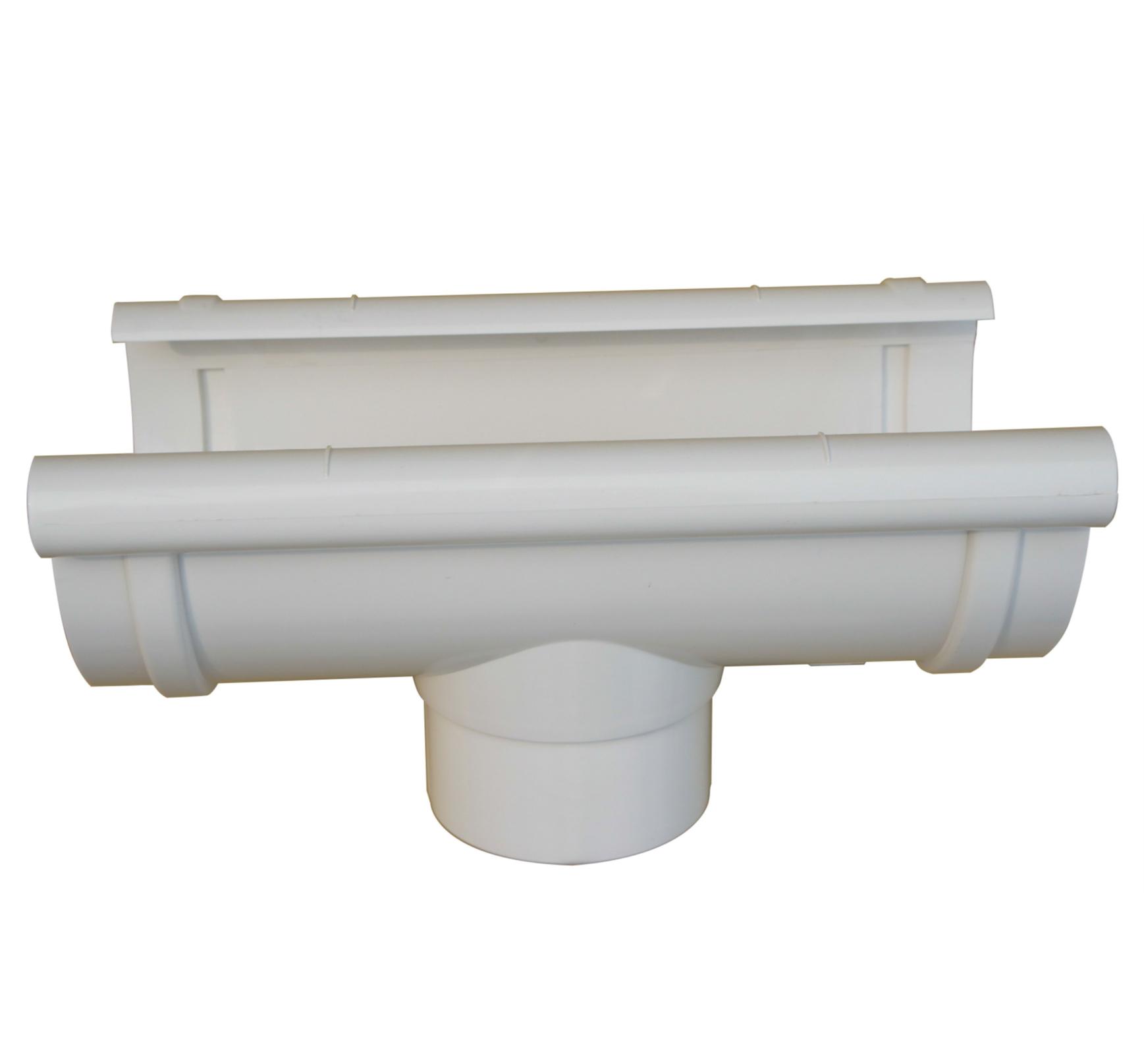 CN Aquatherm pvc rainwater gutter system gutter tee ф125×88