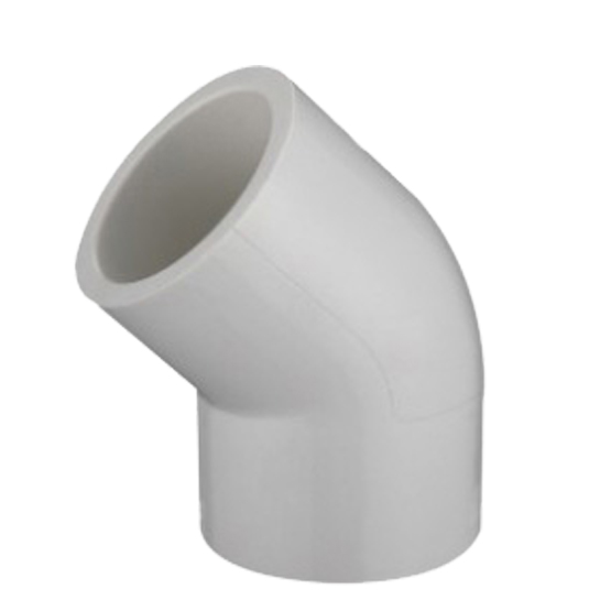 ASTM SCH40 PVC Fittings 45 elbow