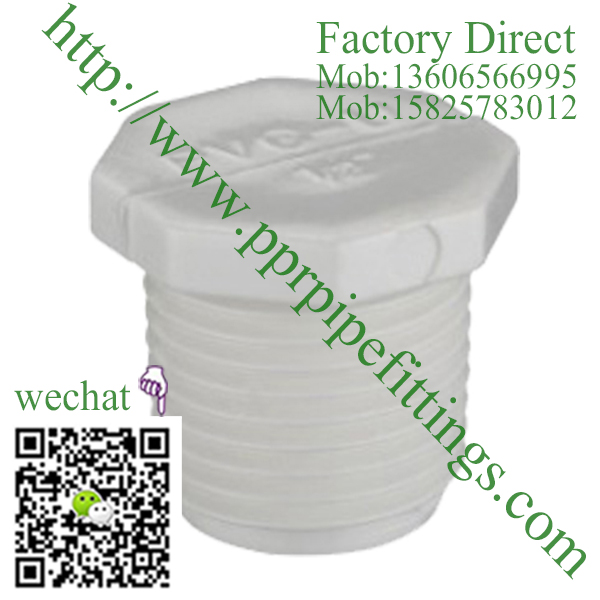 ASTM SCH 40 PVC fittings MALE THREAD PLUG