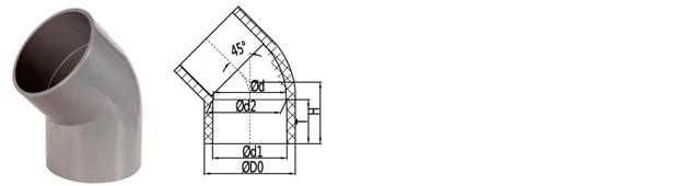 BS EN 1452 PVC-U 45 Deg Elbow