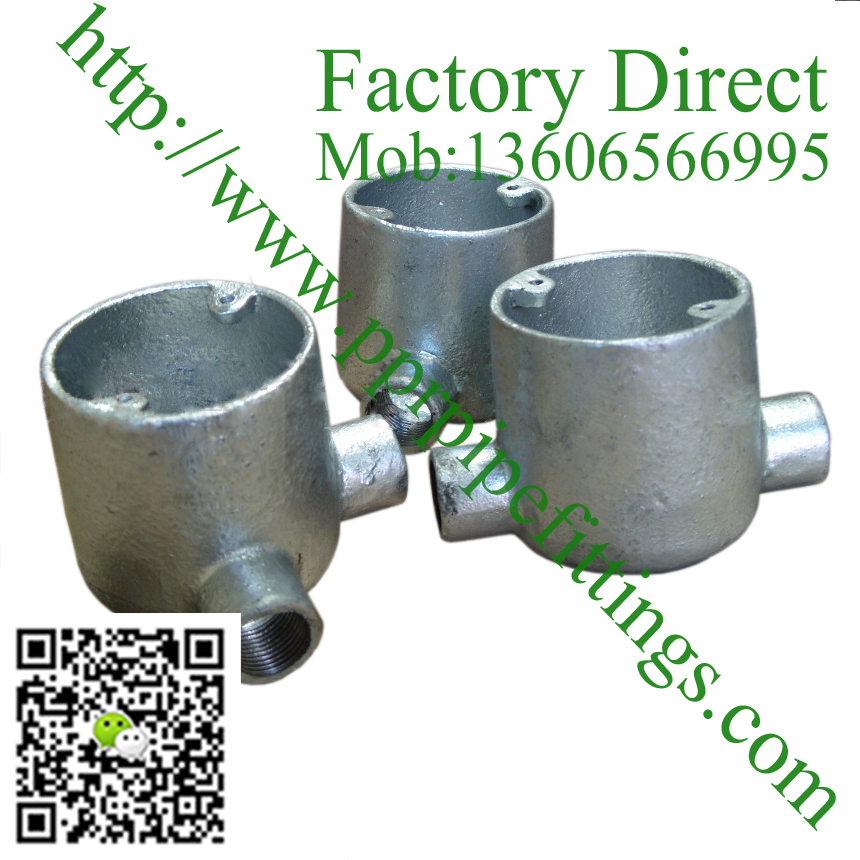 Deep galvanized Cast iron conduit junction box
