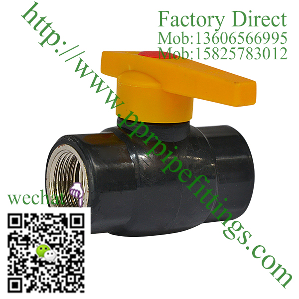 HDPE Female Threaded Steel Ball Valve