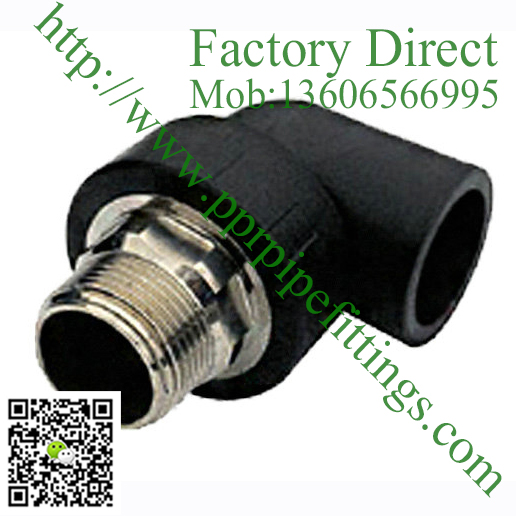 HDPE pipe fitting male thread elbow