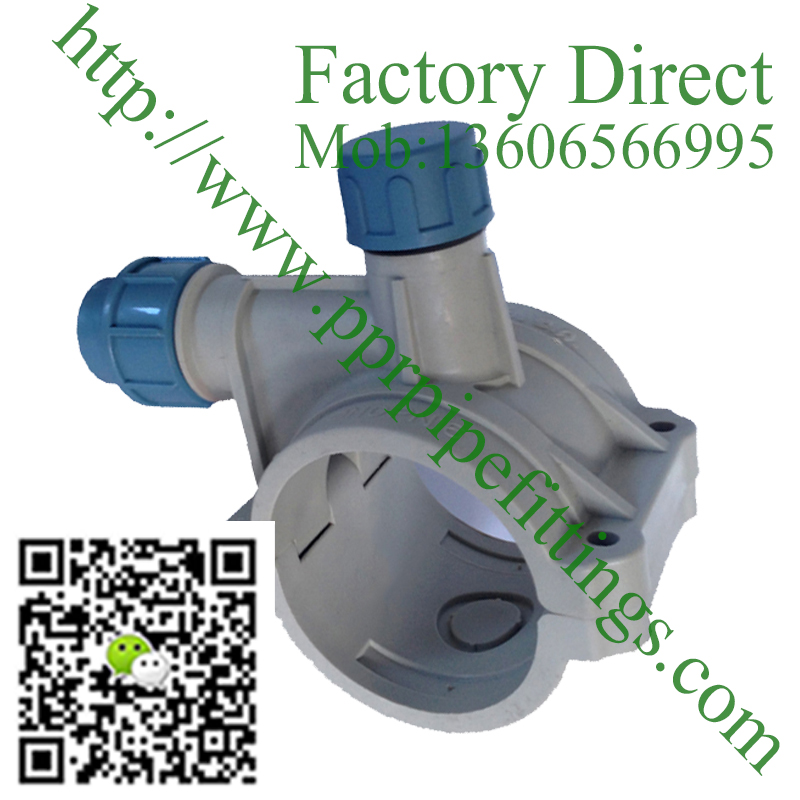 PP Compression Fittings Clamp Saddle irrigation