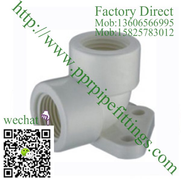 PVC BS4346 PIPE FITTINGS ELBOW WITH PLATE