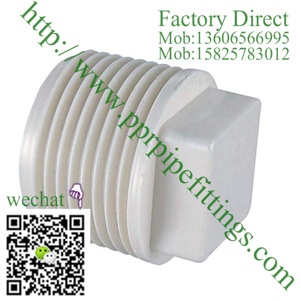 PVC BS4346 PIPE FITTINGS male plug