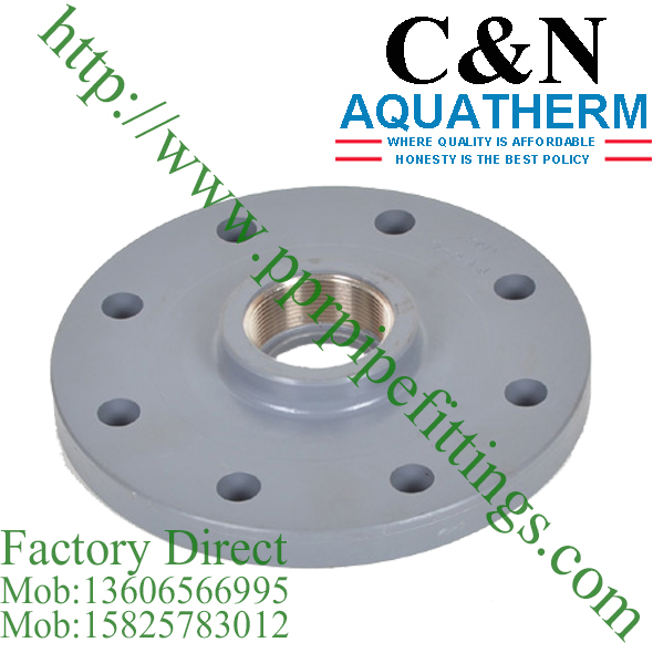 BS EN 1452 PVC-U Copper Threaded Blank Flange