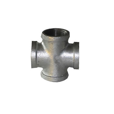 banded hot dipped galvanized cast iron cross fittings