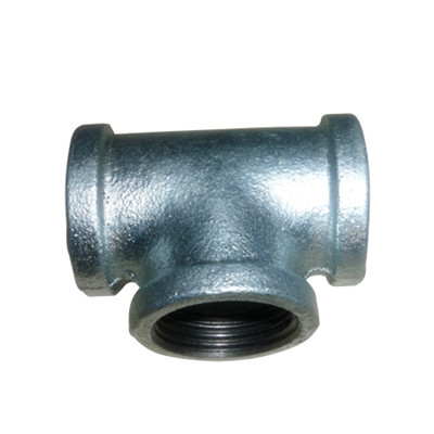 banded hot dipped galvanized cast iron tee fittings