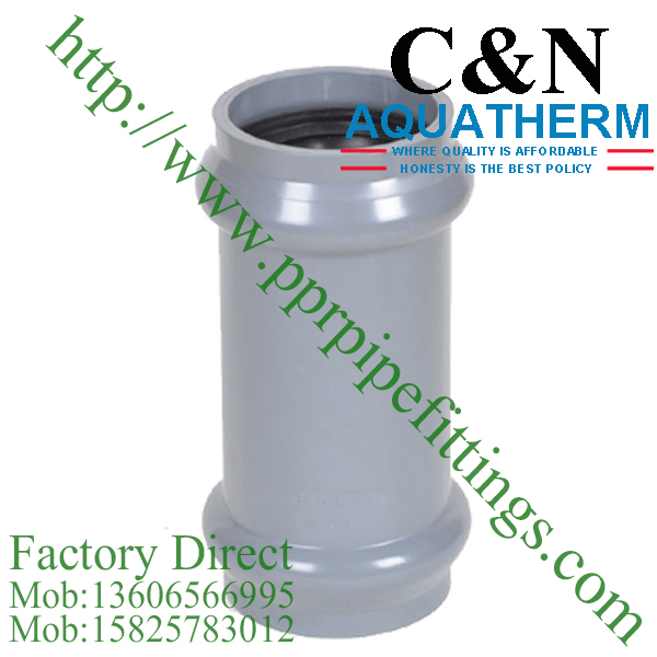 bs en 1452 pvc-u coupling double socket rubber ring joint