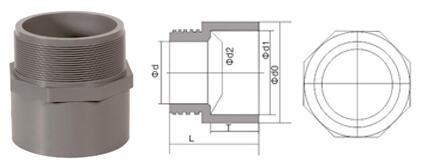 bs en 1452 pvcu pipe fittings male adapter