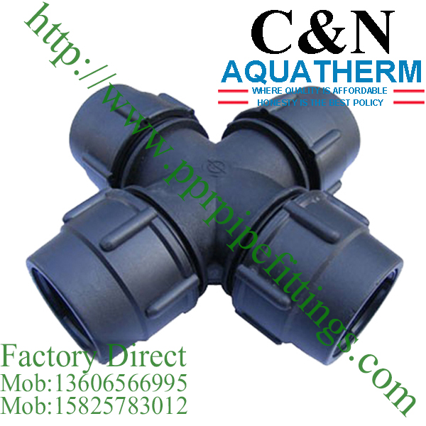 hdpe compression fittings cross