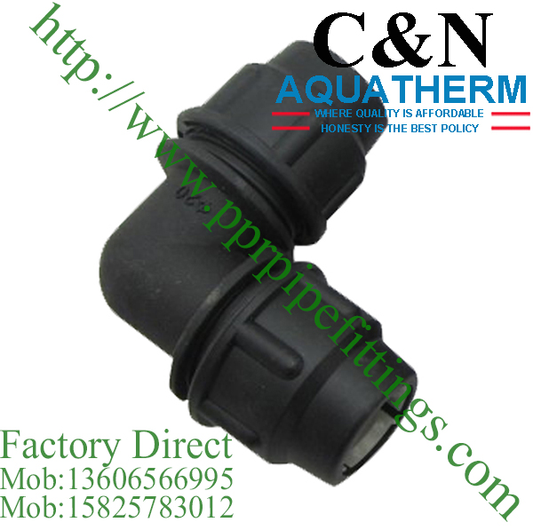 hdpe compression fittings elbow