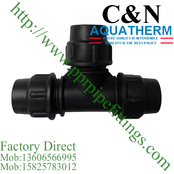 hdpe compression fittings equal tee