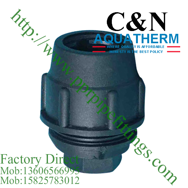 hdpe compression fittings female plug