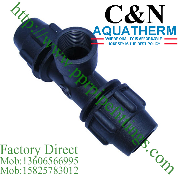 hdpe compression fittings female tee