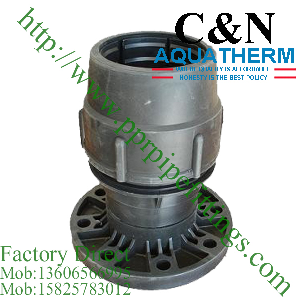 hdpe compression fittings flange coupling