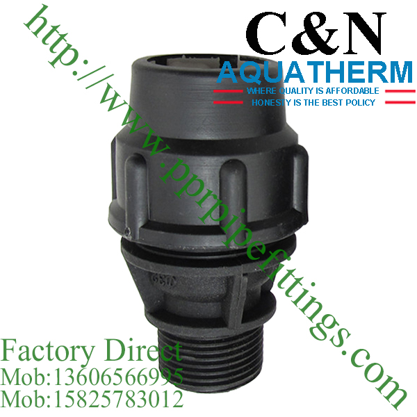 hdpe compression fittings male coupling