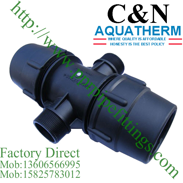 hdpe compression fittings male cross