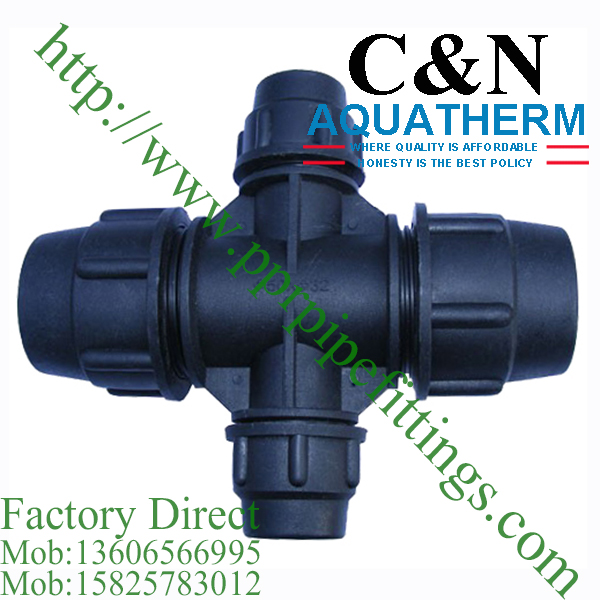 hdpe compression fittings reducing cross