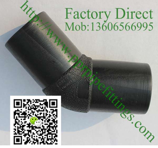 hdpe pipe  45 deg butt fusion fittings