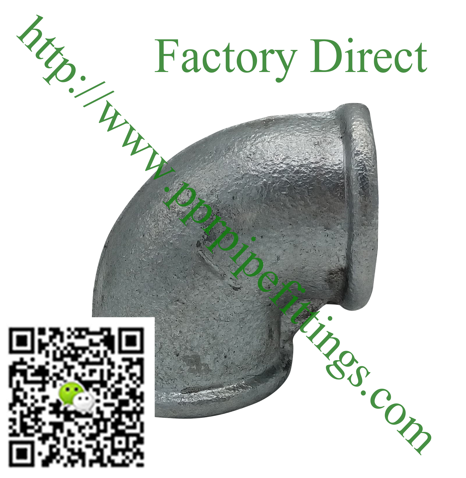 hot dipped beaded cast iron fittings elbow
