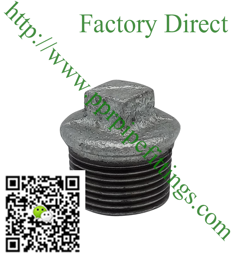 hot dipped beaded cast iron fittings plug