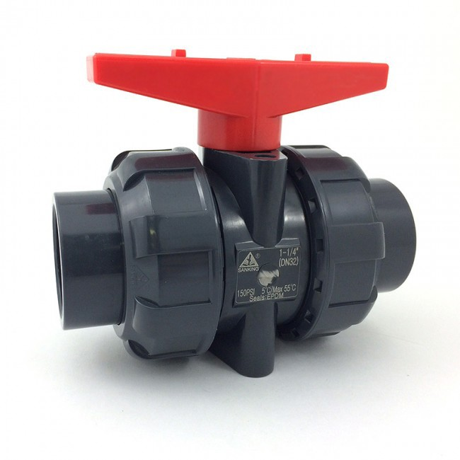 hot sale pvc ball valve, double union ball valve DN50 socket type