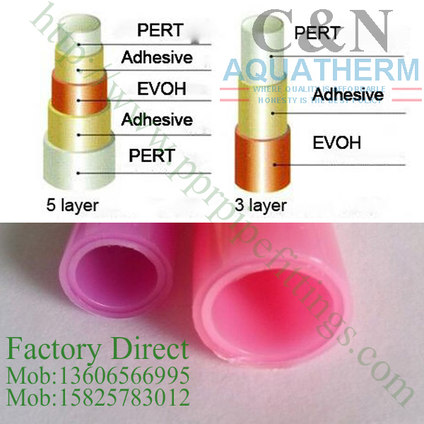pert with evoh oxygen barrier pipe