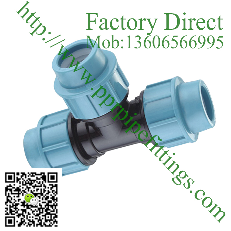 pp compression fittings TEE