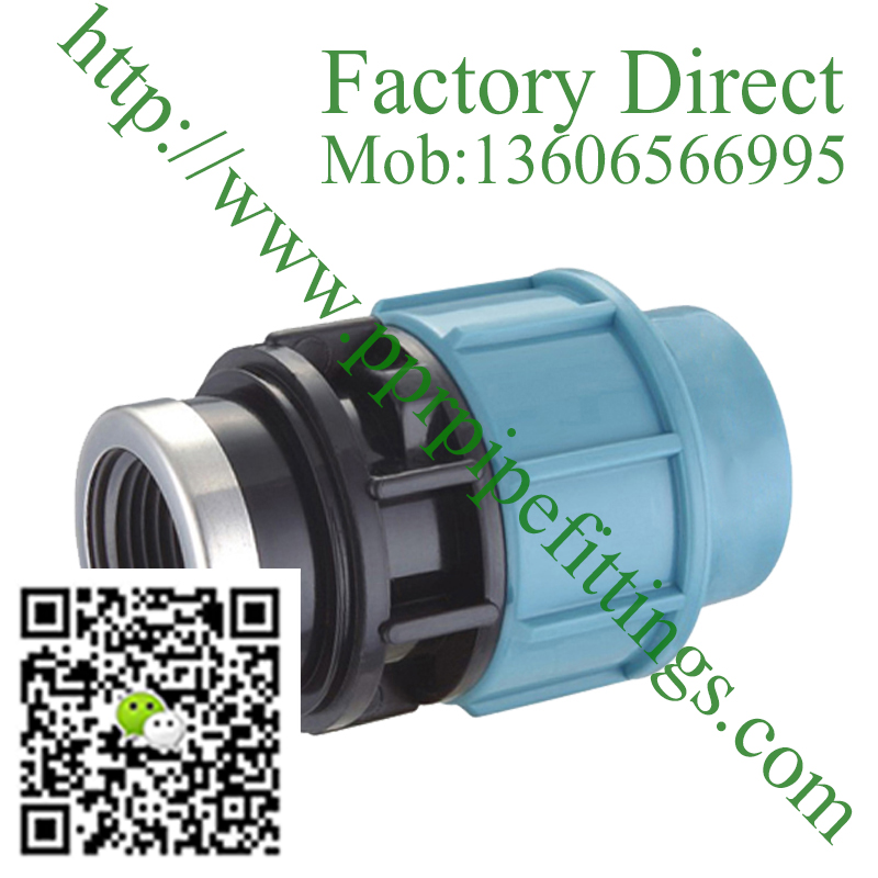 pp compression fittings female Coupling adapter