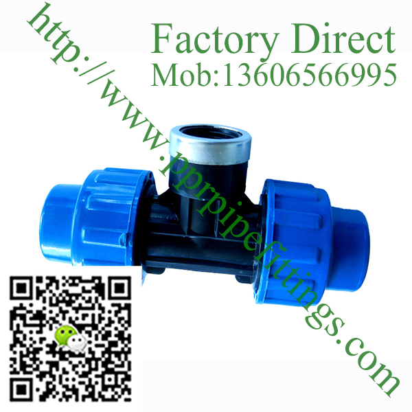 pp compression fittings female tee