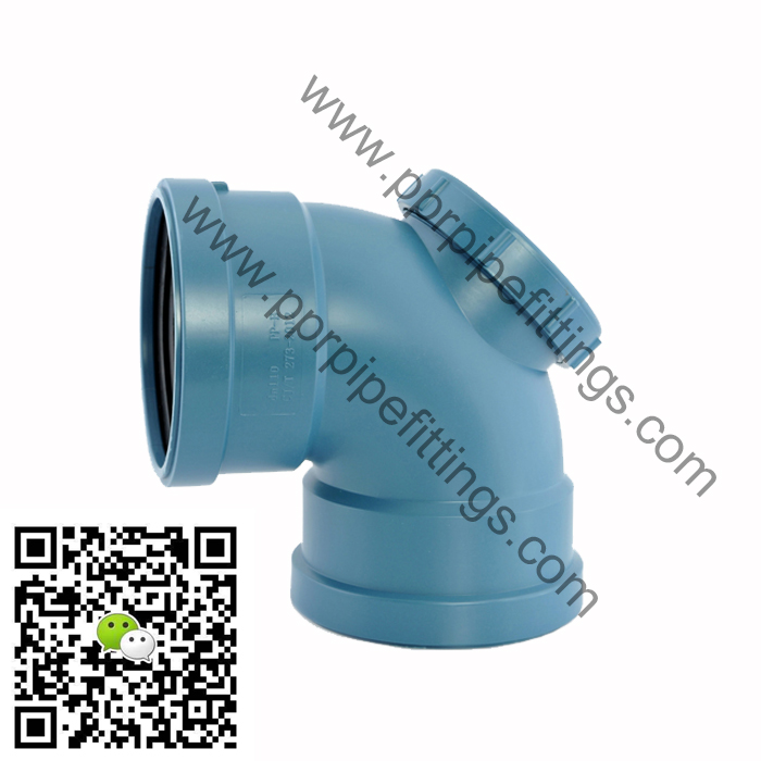 pp silent drainage pipe fittings inspection elbow