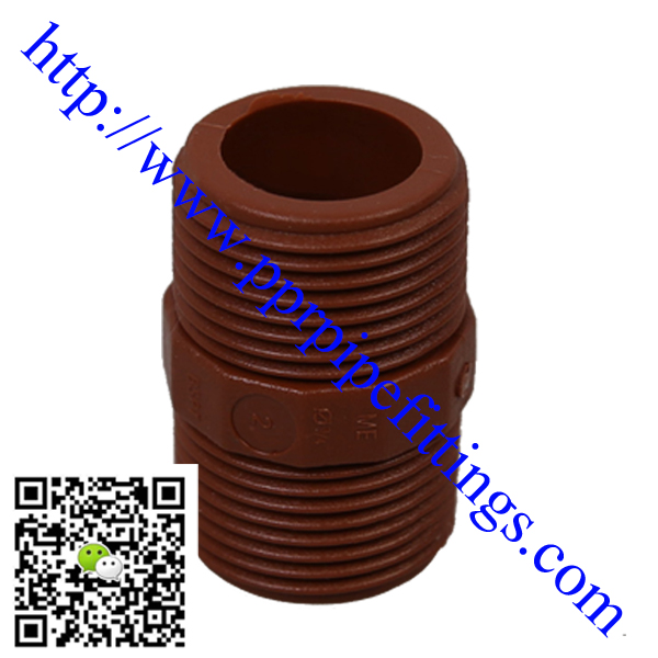 pph pipe fittings male treaded coupling