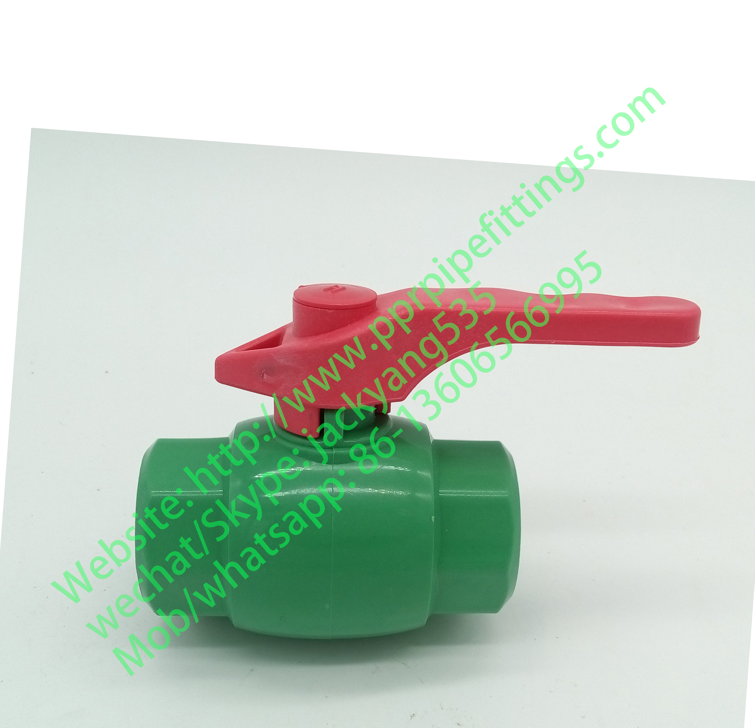 ppr ball valve with red handle