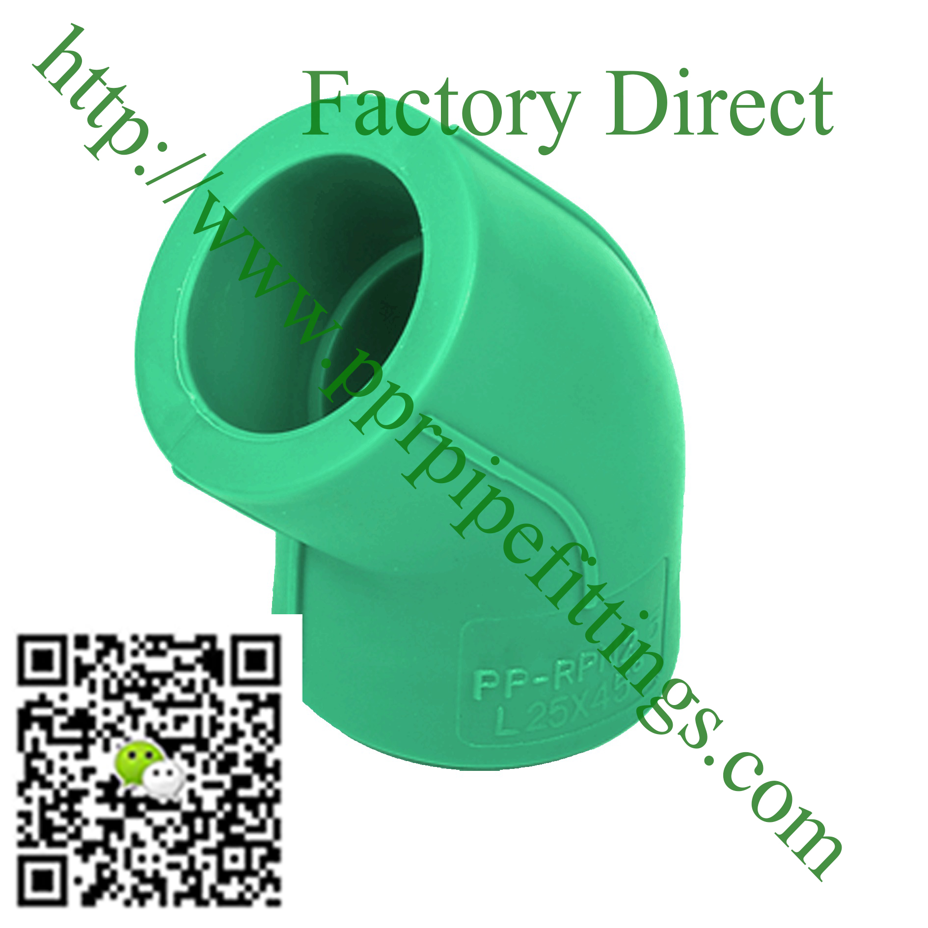 ppr pipe fittings 45 deg elbow