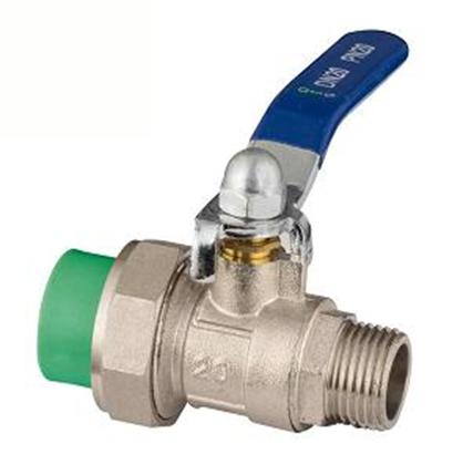 ppr single union male ball valve