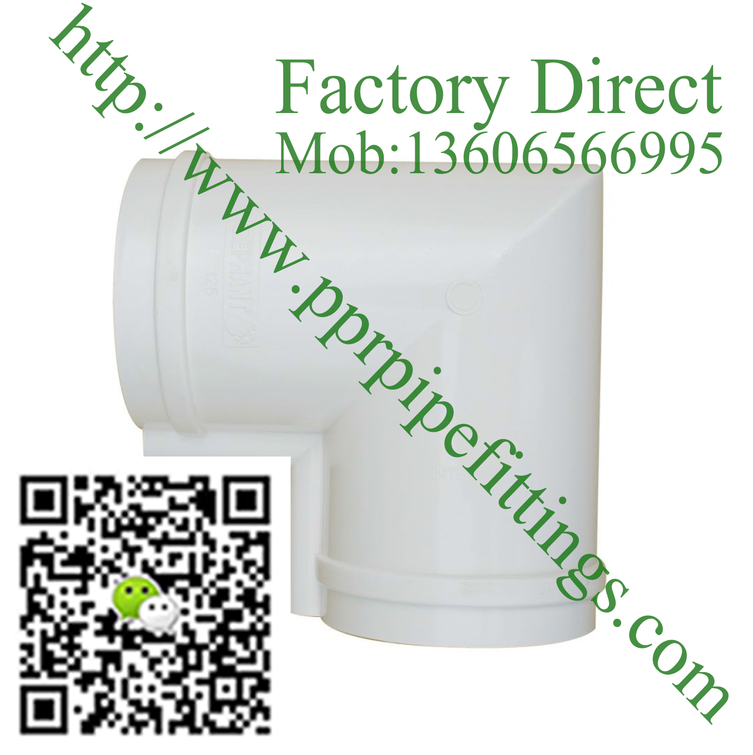 pvc rainwater gutter system  90º  female angle ф125
