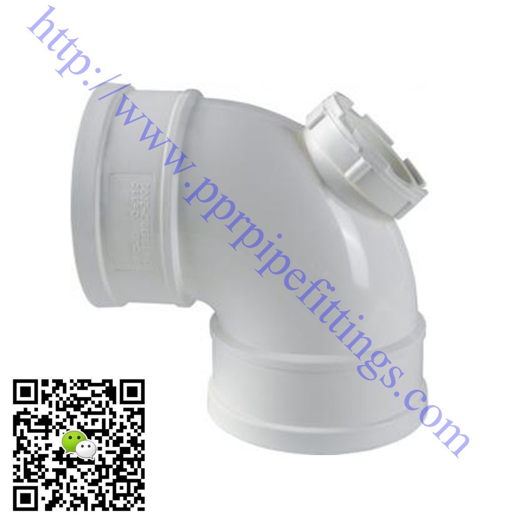 pvc-u pipe fittings elbow with inspection