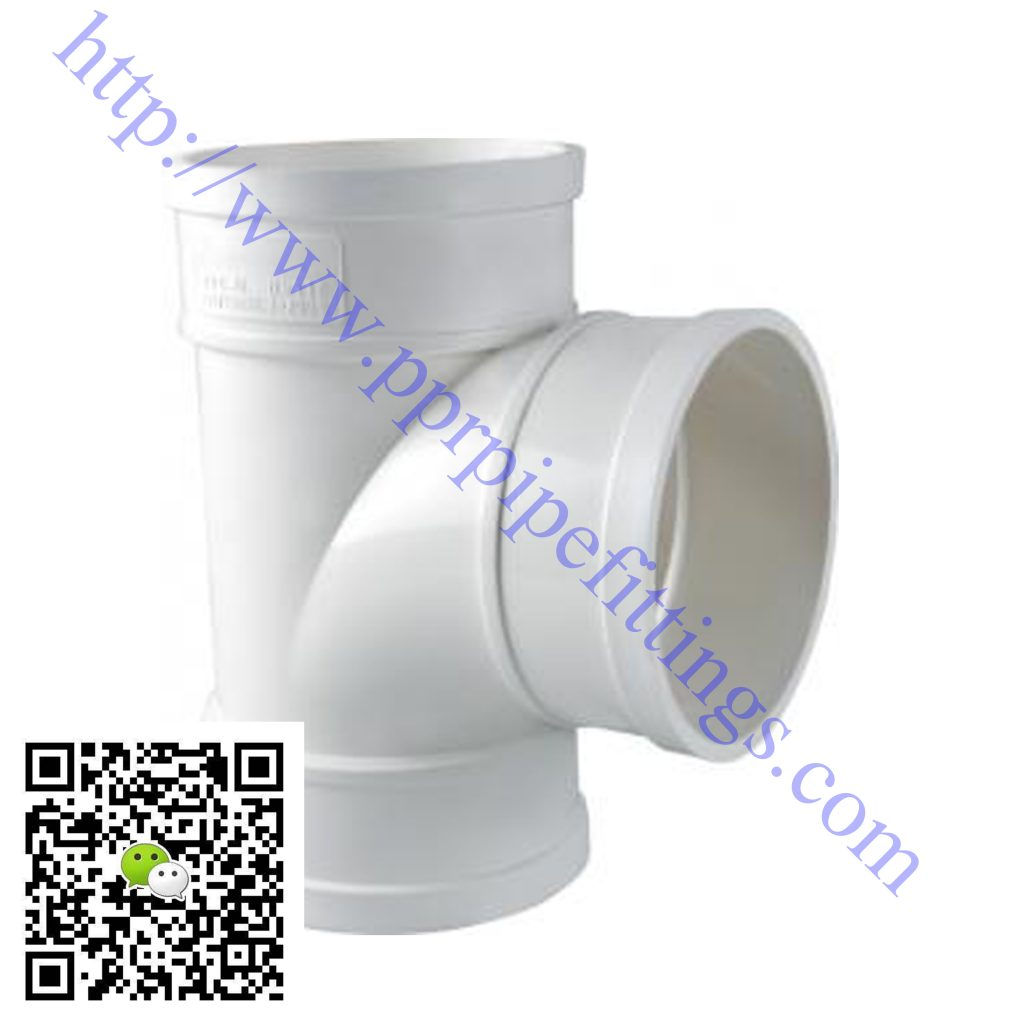 pvc-u pipe fittings swerve tee