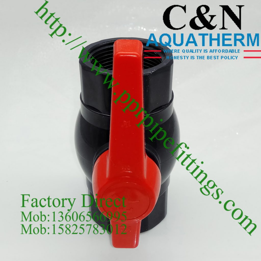 pvc valves octagon female thread pvc valves