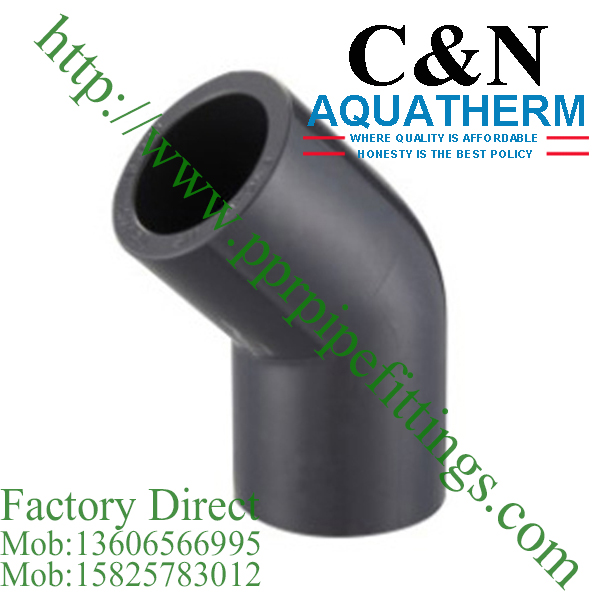 sch 80 pvc fittings 45 deg elbow