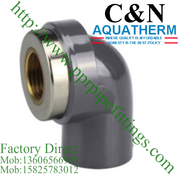 sch 80 pvc fittings 90 deg female elbow copper thread