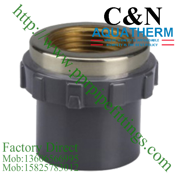 Sch 80 pvc fittings female socket copper thread for Copper to plastic fittings