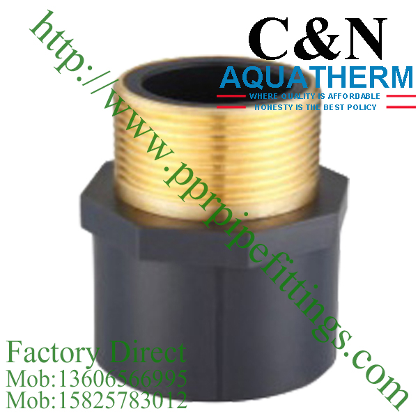 sch 80 pvc fittings male socket copper thread